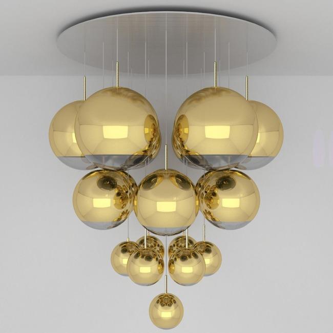 Mirror Ball Mega Multi Light Pendant  by Tom Dixon