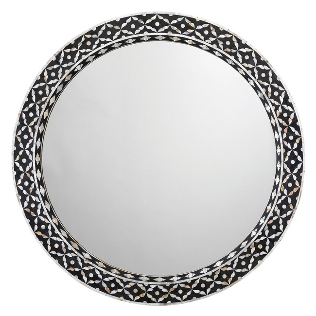 Evelyn Round Mirror  by Jamie Young Company