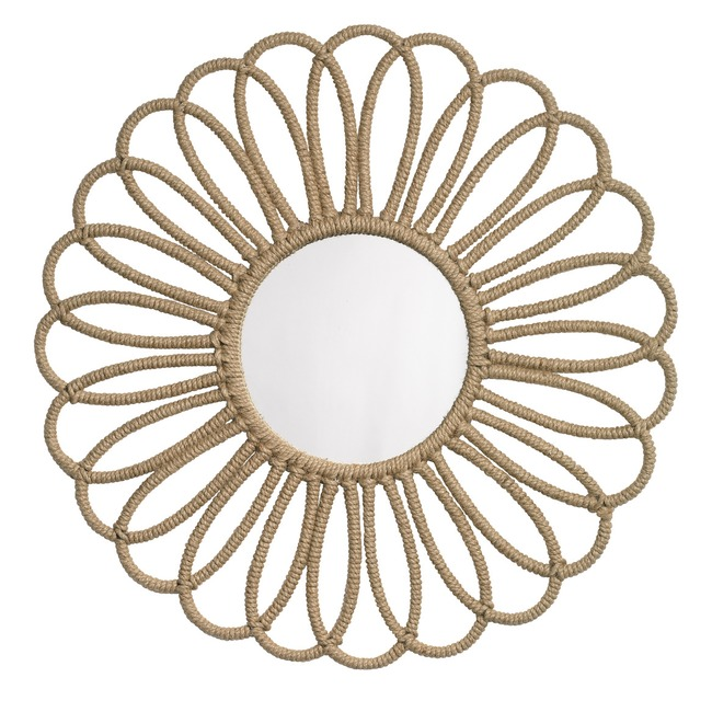 Jute Flower Mirror  by Jamie Young Company
