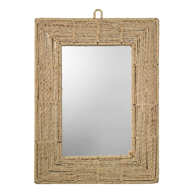 Jute Rectangle Mirror  by Jamie Young Company