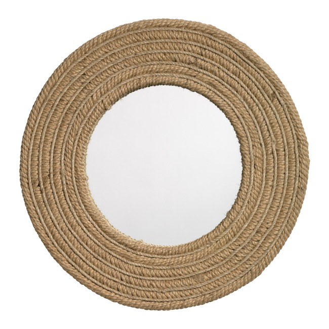 Jute Round Mirror  by Jamie Young Company