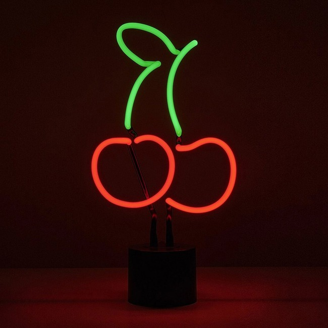 Cherries Neon Desk Lamp  by Amped & Co