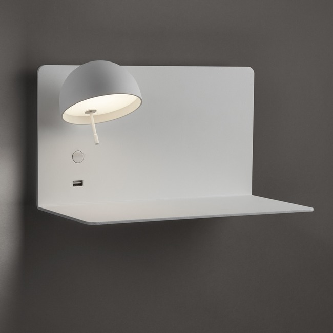 Beddy Wall Light with Long Shelf  by Bover