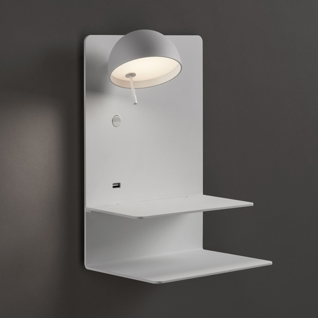 Beddy Wall Light with Double Shelf  by Bover