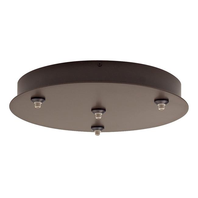 FreeJack LED 4 Port Round Canopy by Tech Lighting | 700FJR4Z-LED