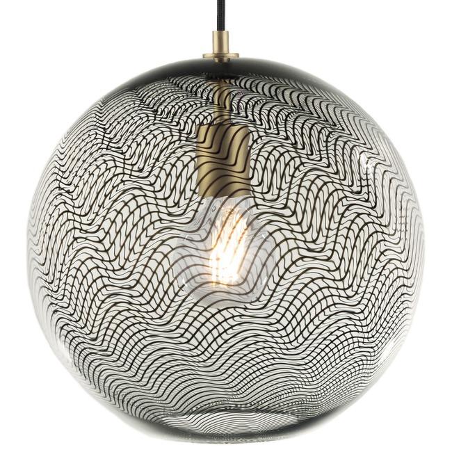Cane Charcoal Drift Globe Pendant  by Keep Lighting