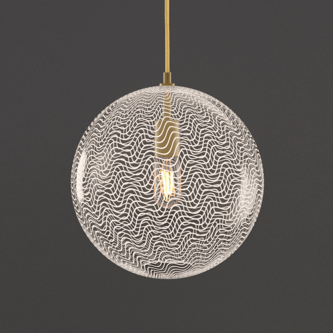 Cane Pearl Drift Globe Pendant  by Keep Lighting