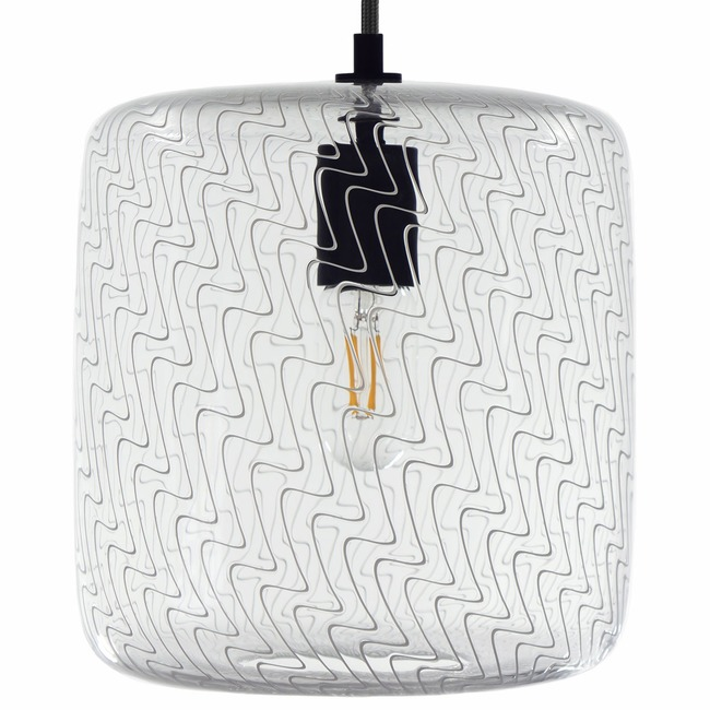 Cane Pearl Drift Drum Pendant  by Keep Lighting