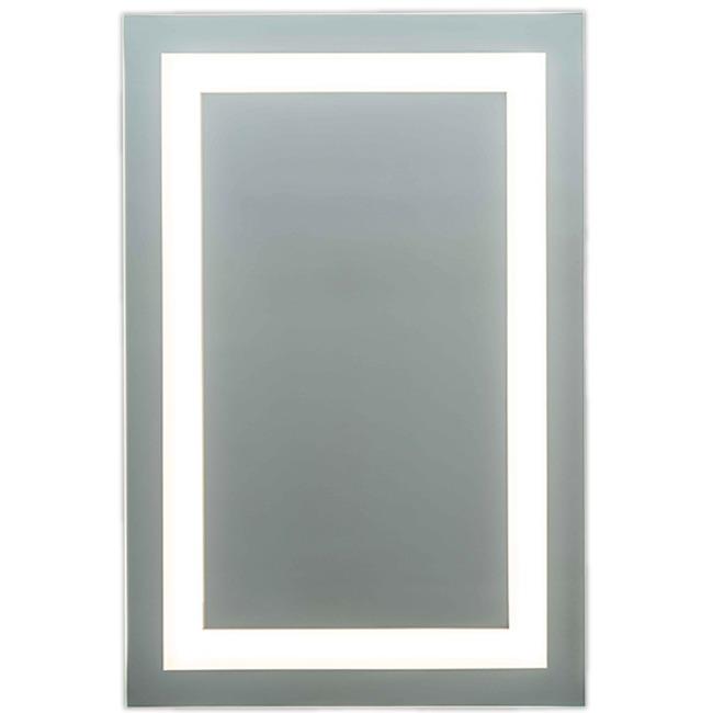 L1 Full Frame Inset LED Mirror  by Matrix Mirrors