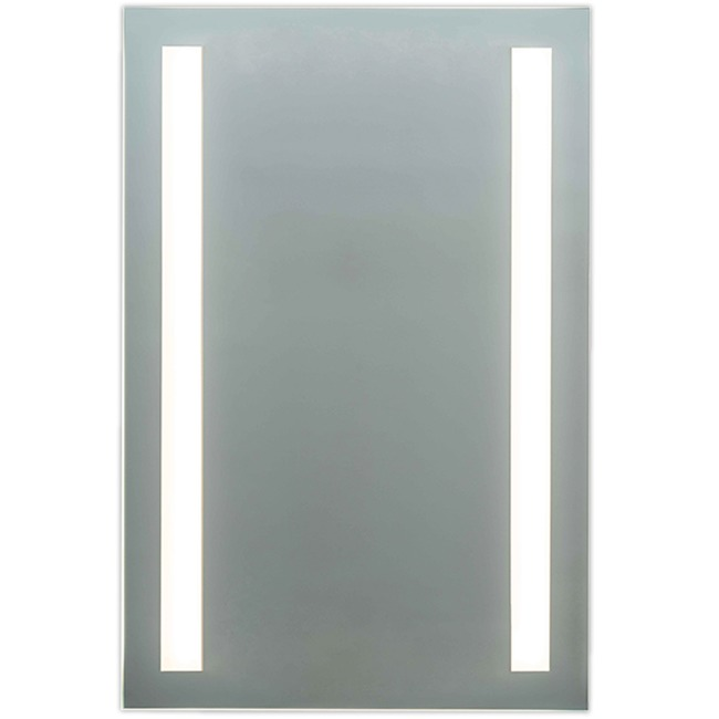 L3 Two-Side Inset LED Mirror with Anti-Fog Pad  by Matrix Mirrors