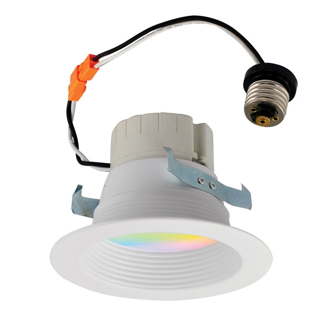 Prism 4IN Retrofit RGBW Baffle Downlight  by Nora Lighting