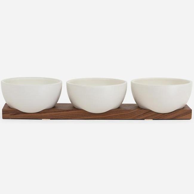 Case Study Bowls with Walnut Base  by Modernica