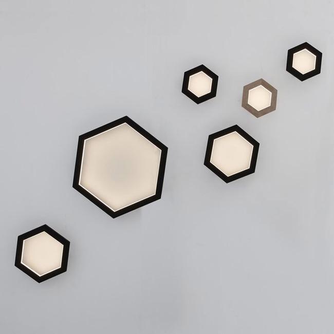 Hexagon Wall Light  by hollis+morris