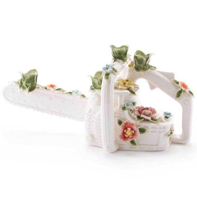 Flower Attitude Chainsaw Candle Holder  by Seletti