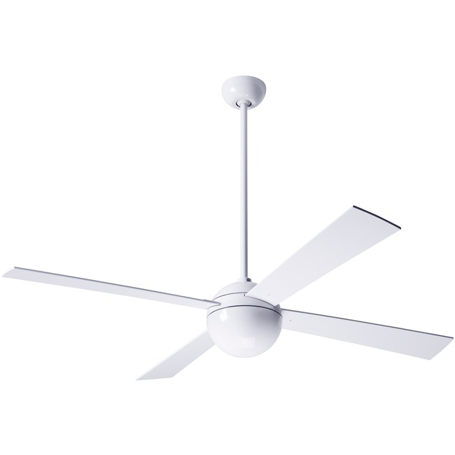 Ball Ceiling Fan by Modern Fan Co. | BAL-GW-42-WH-NL-003