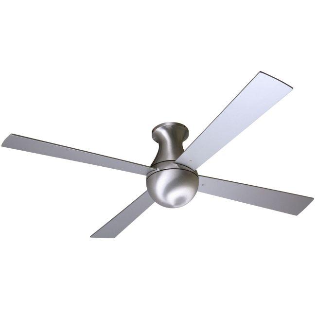 Ball Flush Ceiling Fan No Light by Modern Fan Co.   BAL-FM-BA-52-AL-NL-003