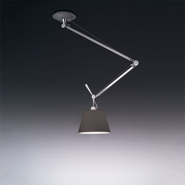 Tolomeo Off Center Suspension with Black Shade  by Artemide