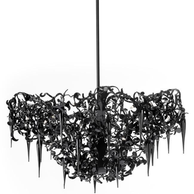 Flower Power Chandelier Round Upside Down by Brand Van Egmond | FPCUSD60BLU