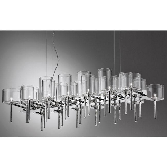 Spillray 26 Light Chandelier by Axo Light | USSPIL26CSCR12V