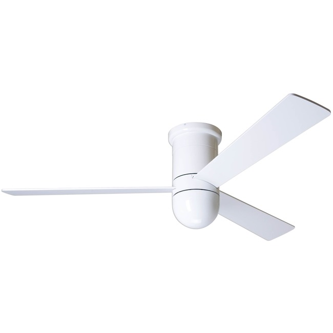 Cirrus Flush Ceiling Fan No Light 003 Control by Modern Fan Co. | CIR-FM-GW-50-WH-NL-003