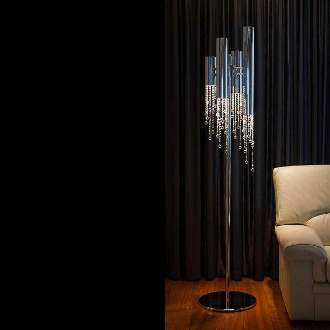 Sexy Crystals Up/Down Light Floor Lamp by Ilfari | ILF6322s.02