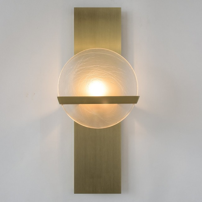 Lunette Rectangular Bar Wall Light  by Ridgely Studio Works