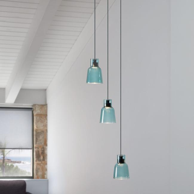 Drip Drop Three Light Pendant  by Bover