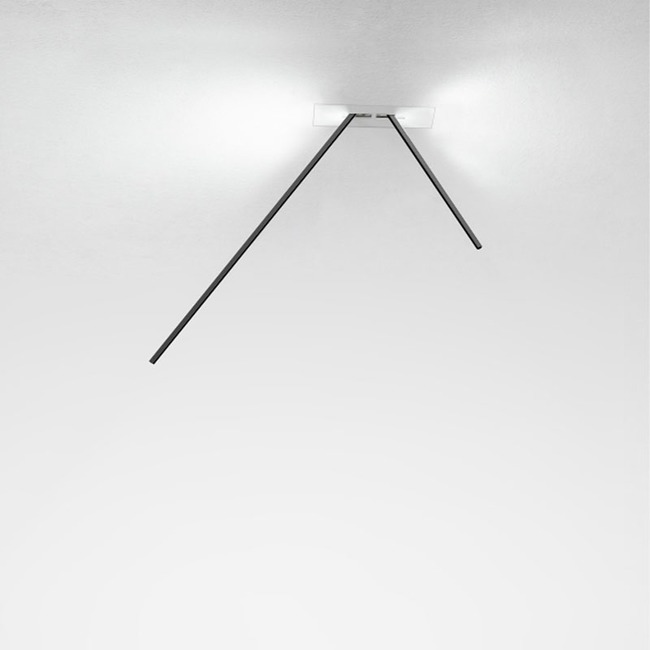 Spillo 2-Rod Semi-Recessed Ceiling Light  by ZANEEN design