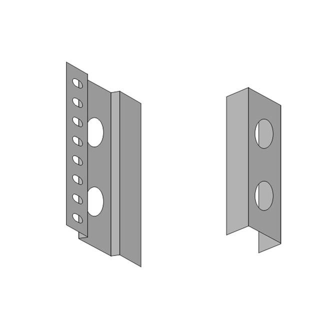 Spillo 16IN 2-Rod Semi-Recessed Masonry Housing Accessory  by ZANEEN design