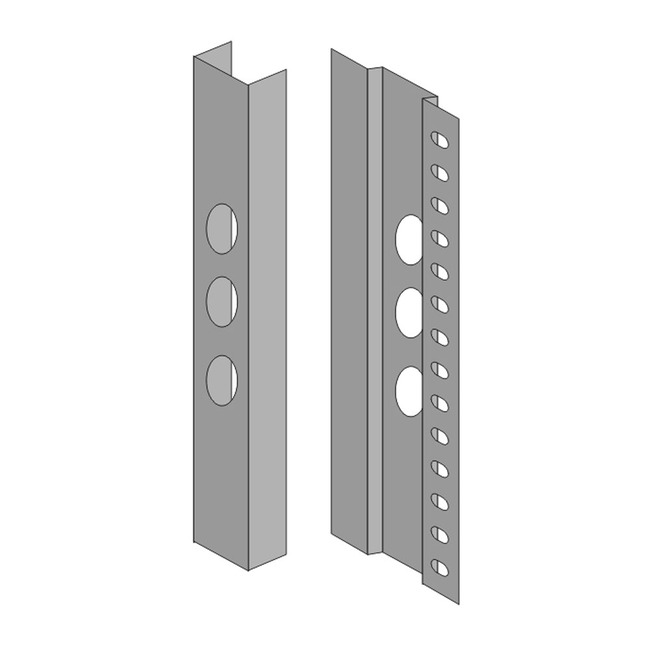 Spillo 9IN 5-Rod Semi-Recessed Masonry Housing Accessory  by ZANEEN design