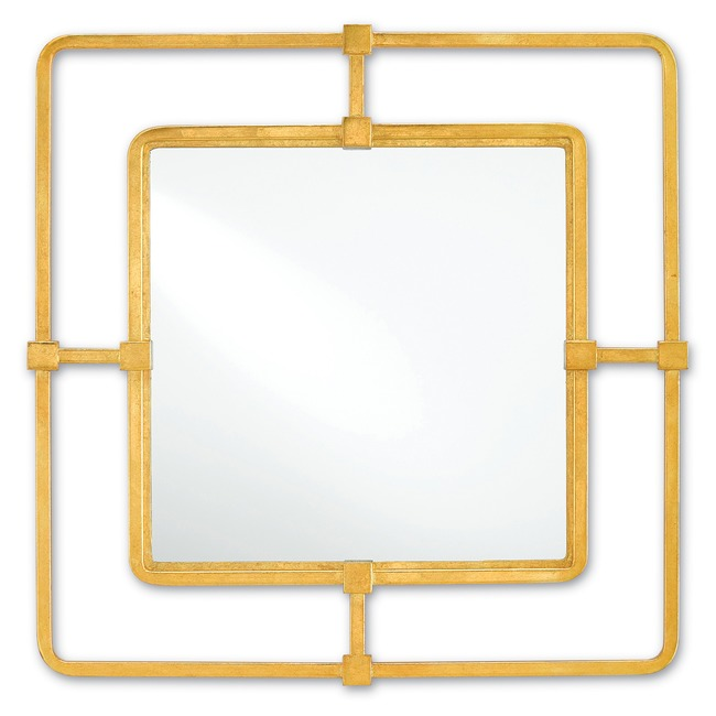 Metro Square Mirror  by Currey and Company