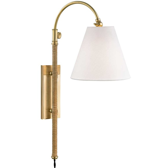 Curves No.1 Plug-in Wall Light  by Hudson Valley Lighting