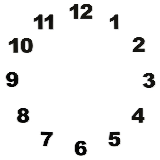 Pack of Wall Clock Numbers  by Nomon