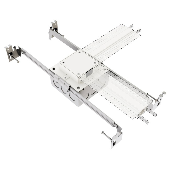 TruTrack L Power Feed with Junction Box  by PureEdge Lighting