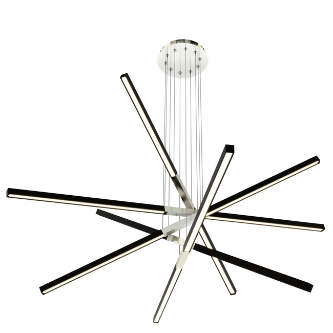 Pix Sticks Tie Stix Wood Warm Dim Suspension Remote Power  by PureEdge Lighting