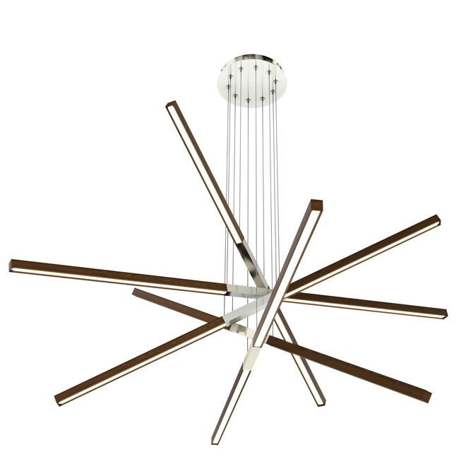 Pix Sticks Tie Stix Wood Suspension with Power  by PureEdge Lighting