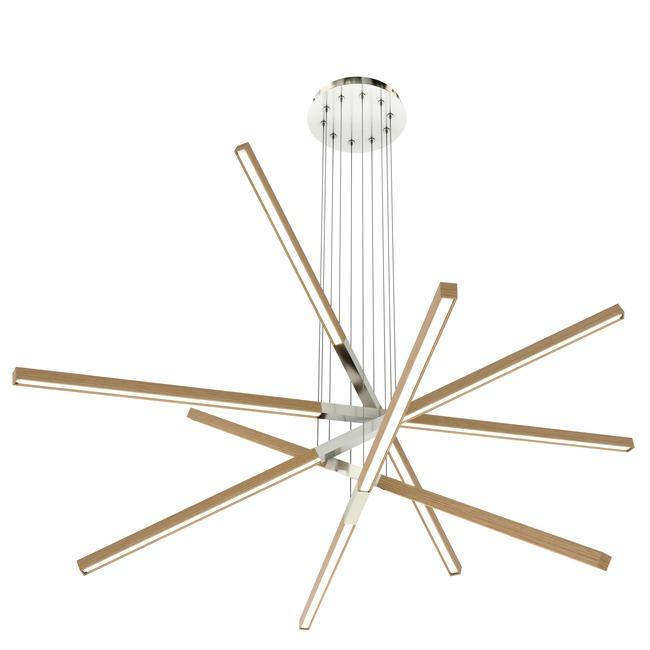 Pix Sticks Tie Stix Wood Suspension with Remote Power  by PureEdge Lighting