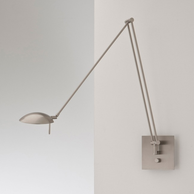 Bernie Turbo 49 inch Swing Arm Wall Light by Holtkoetter | 8195LED SN