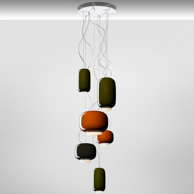 Chouchin Round Multi Light Pendant  by Foscarini