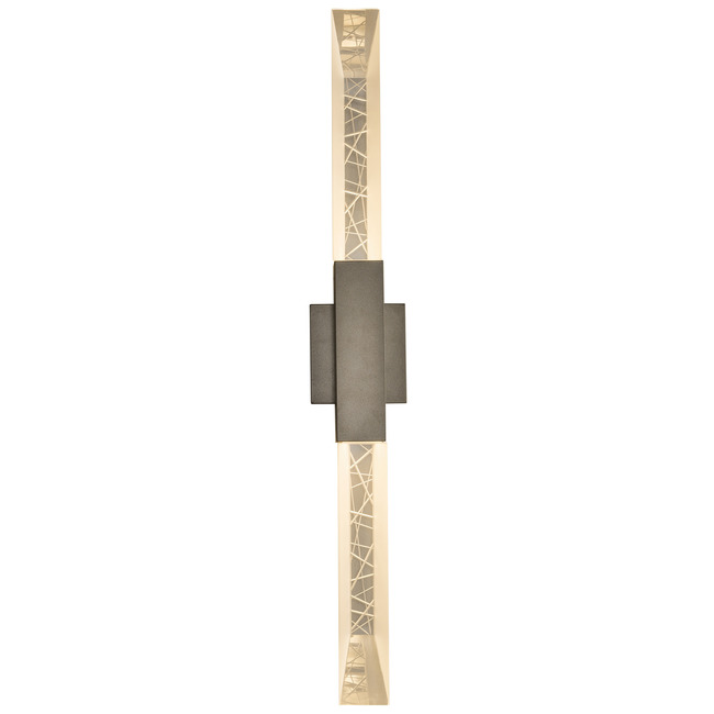 Refraction Double Outdoor Wall Light  by Hubbardton Forge