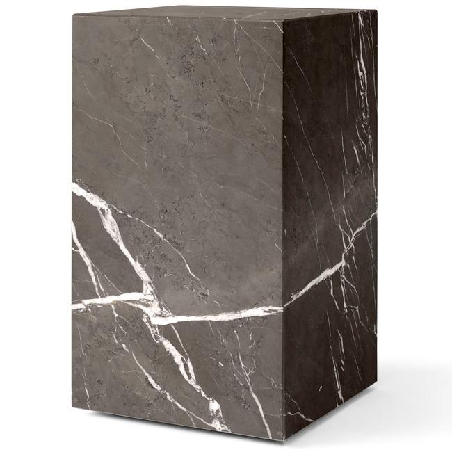 Plinth Tall Marble Table  by MENU