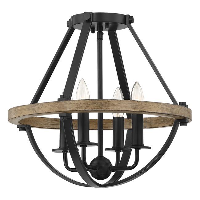 Bartlett Semi Flush Ceiling Light  by Quoizel