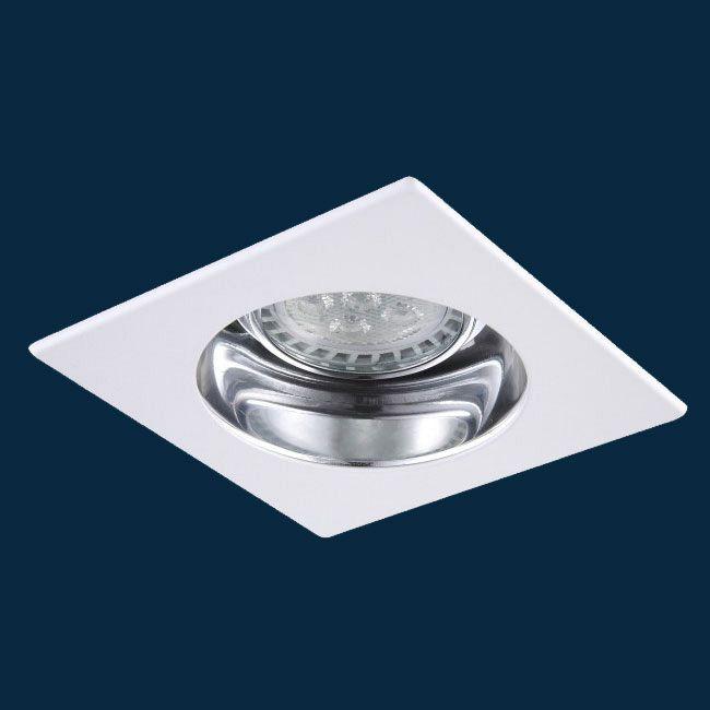 R3-521 3 Inch Square Adjustable Alzak Trim by Beach Lighting | R3-521MWCL