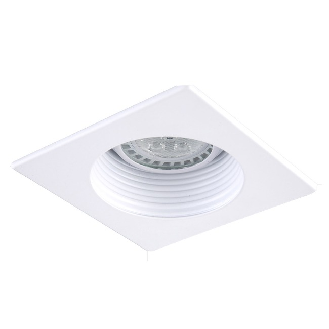 R3-593 3 Inch Square Adjustable Baffle Trim by Beach Lighting   R3-593MW