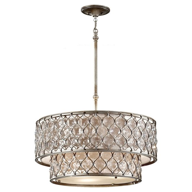 Lucia 2 Tier Pendant  by Feiss