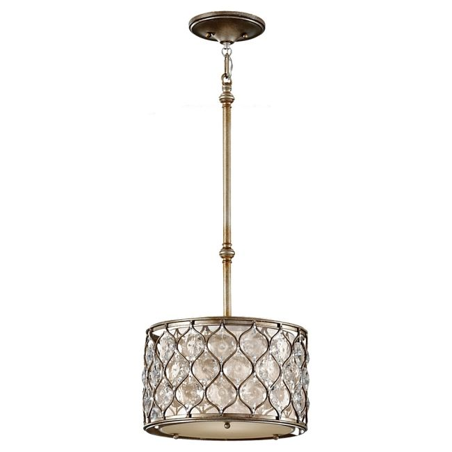 Lucia Drum Pendant by Feiss | P1259BUS