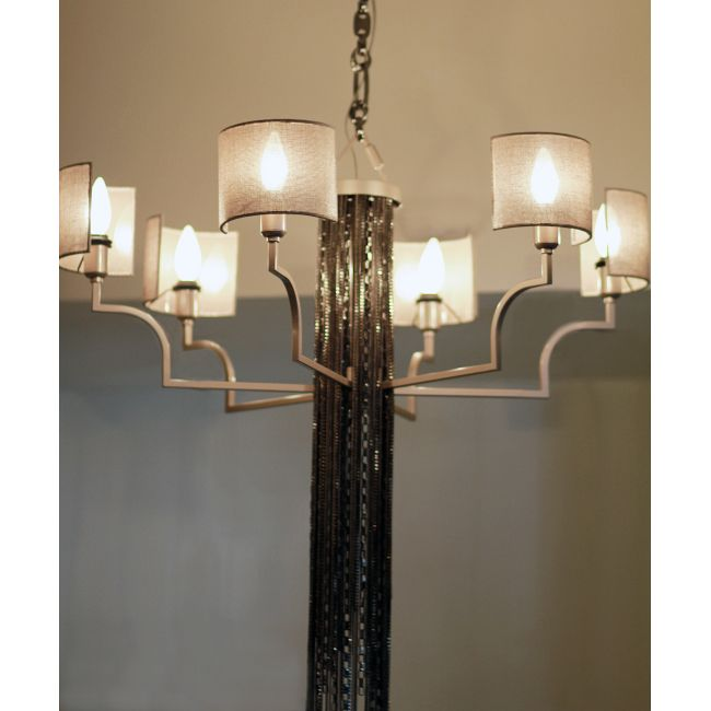 6 Light Chandelier by Lightology Collection | LC-EC03-M18-T12-BN