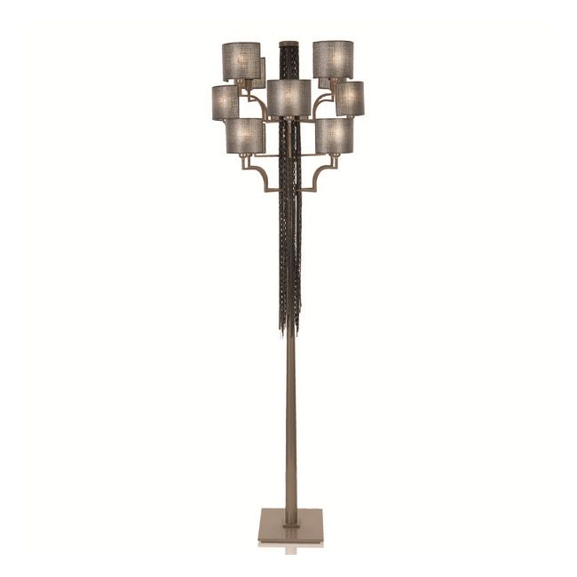 12 Light Floor Lamp by Lightology Collection | LC-EC12-M18-T12-BN