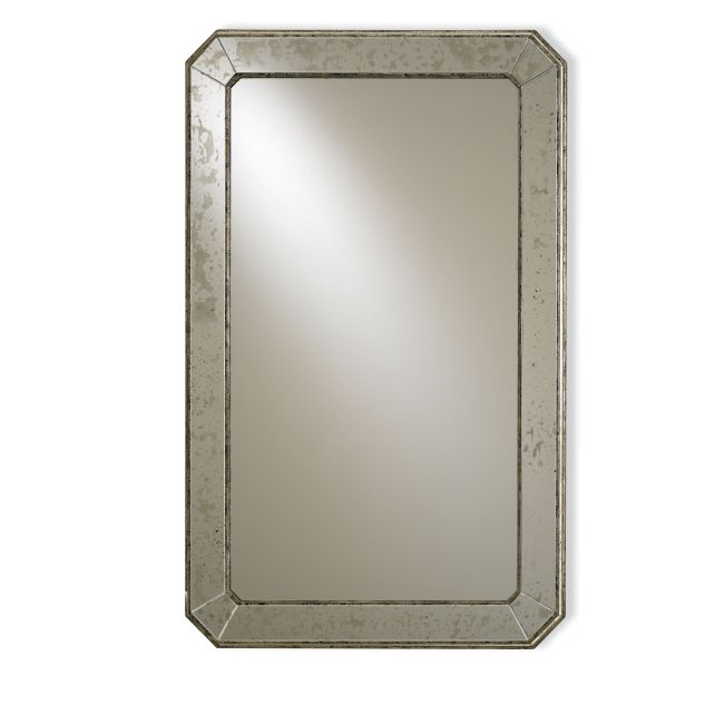 Antiqued Wall Mirror  by Currey and Company