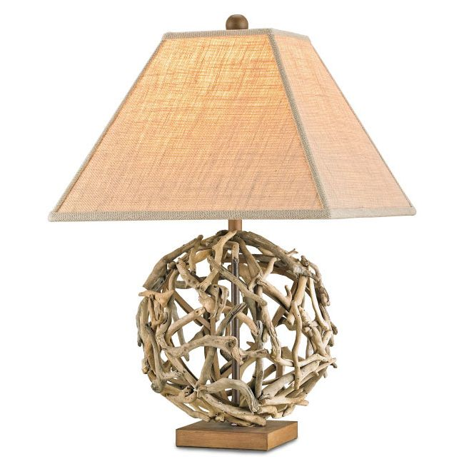 Download Image · Driftwood Orb Table Lamp By Currey And Company